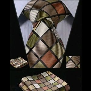 Other - SHEERAZ PLAID~Tie & Square Setz